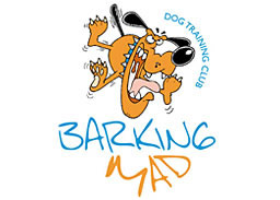 Barking Mad Dog Training Club logo/homepage